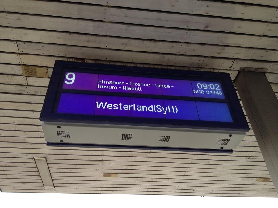 Mit dem Zug nach Sylt