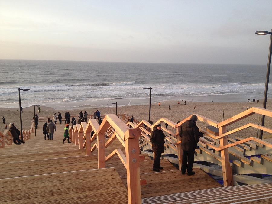neue Strandtreppe Wenningstedt