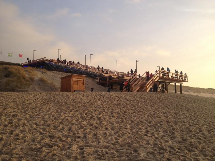 neue Strandtreppe