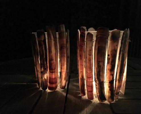 Muschel Windlicht