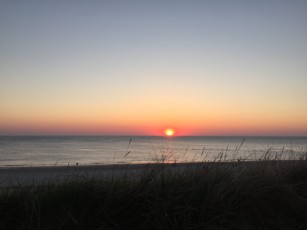Sylt Zuhause Sonnenuntergang